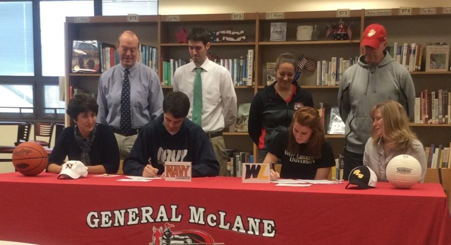 Ryan Reagan and Morgan Farley commit to play collegiate sports.