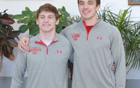 Seniors Owen Watkins and Ethan Laird will compete at the state wrestling competiton this weekend.
