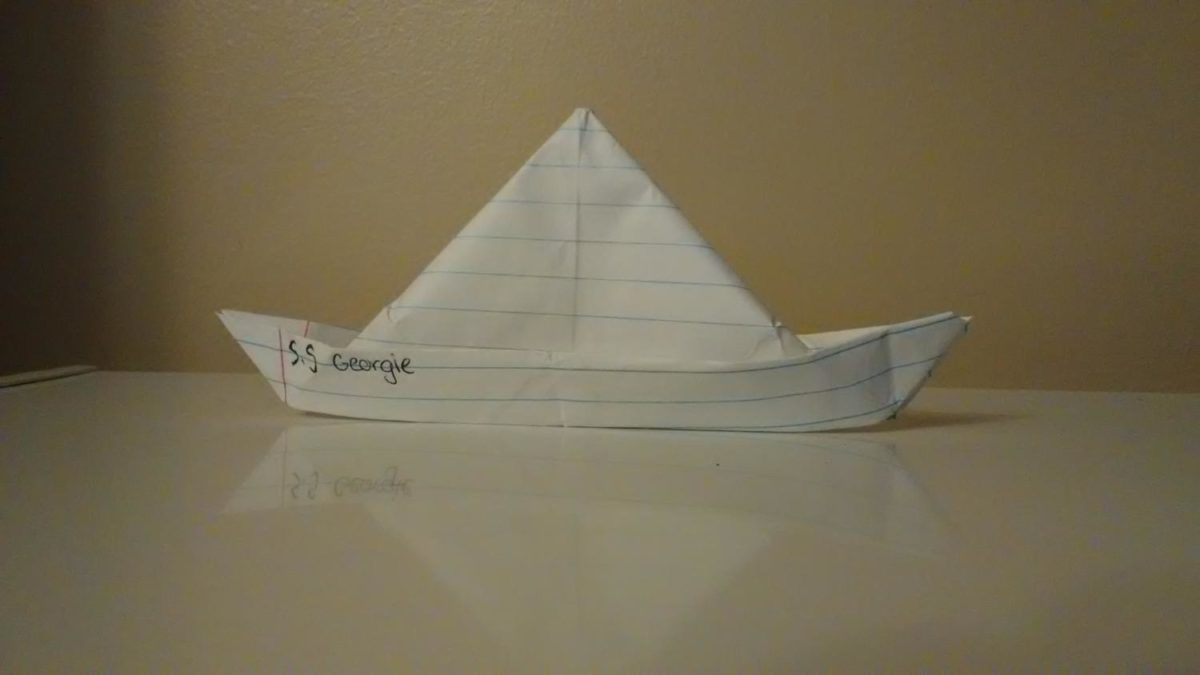 The S.S Georgie like the one in the film! Credit to Autumn Saxon for creating the boat!