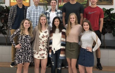 The students elected to this year's court are from bottom left: Debbie Fiscus, Sierra Seneta, Ashley Burhenn, Hanna Pfieffer, & Olivia Green.  Top row: Logan Miller, Seth Myers, Riley Flynn, Ryan Kulka, & Luke Dillen.