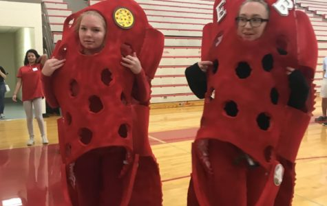 High School Students On Board for Halloween Festivities