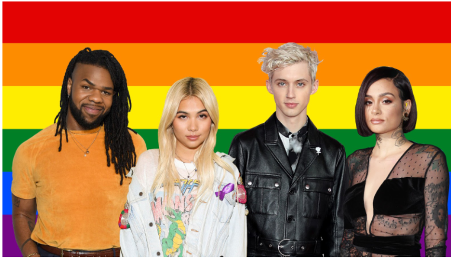 Artists+like+MNEK%2C+Hayley+Kiyoko%2C+Troye+Sivan%2C+and+Kehlani+create+positivity+for+the+LGBTQ+community.