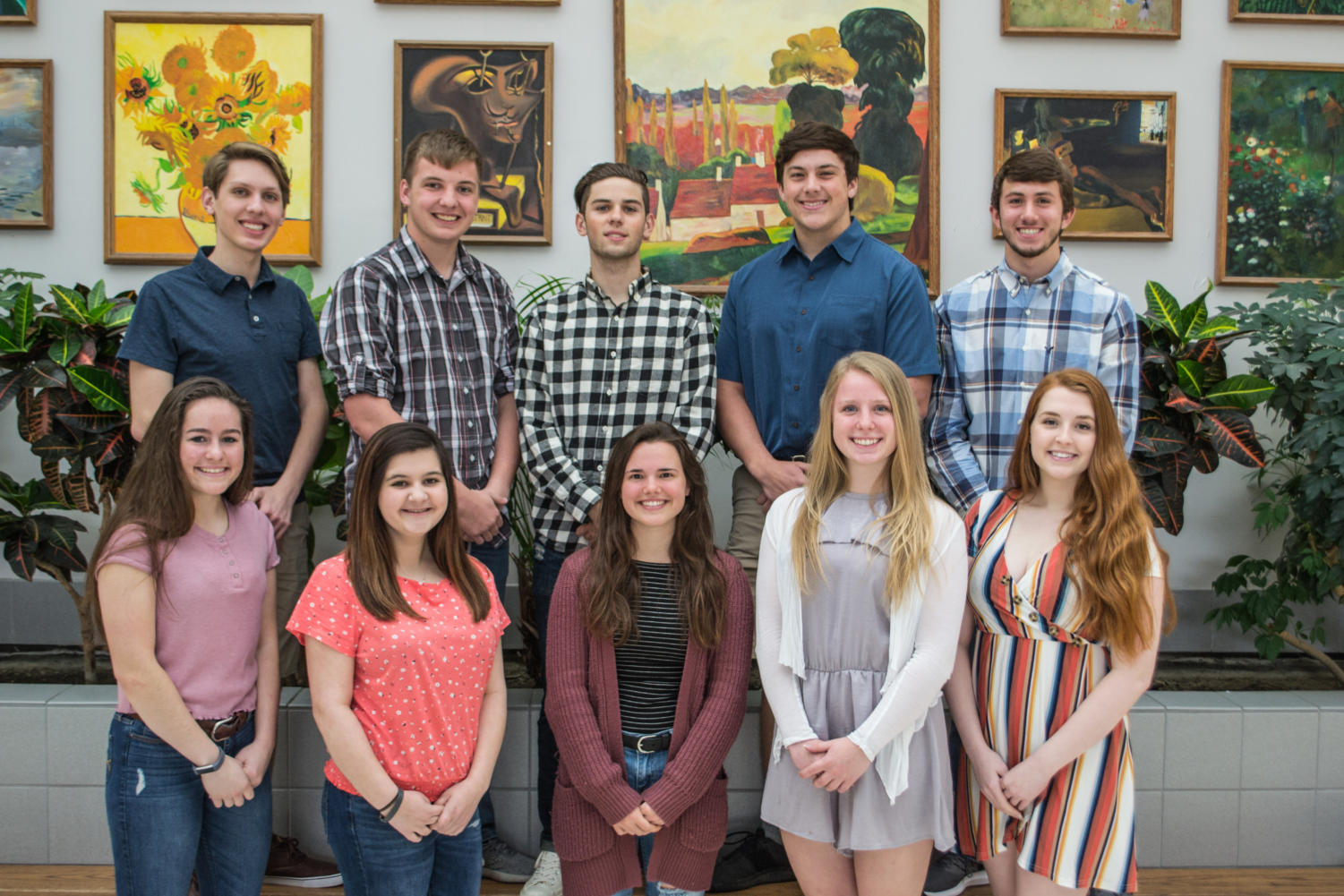 The 2019 prom court are: Kaley Berger, Maegan Parker, Claire Campbell, Kayla Freyermuth, Taylor Thomas, Noah Clever, Logan McFadden, Brennon Songer, Nick Renick, & Nick Halmi.