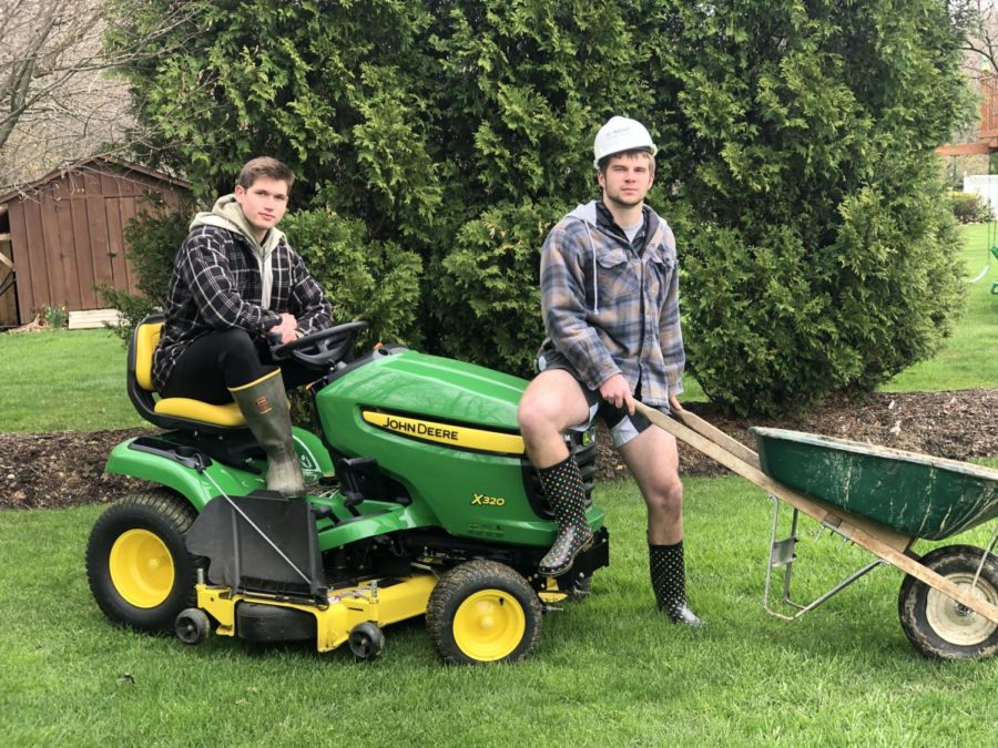 Ryan Kulka and Luke Dillen, owners of Edinboro Lawn Care.