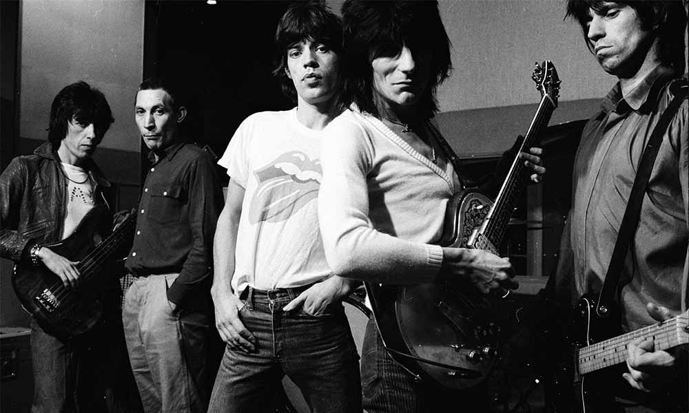 Rock icons the Rolling Stones photographed in the 1970's.