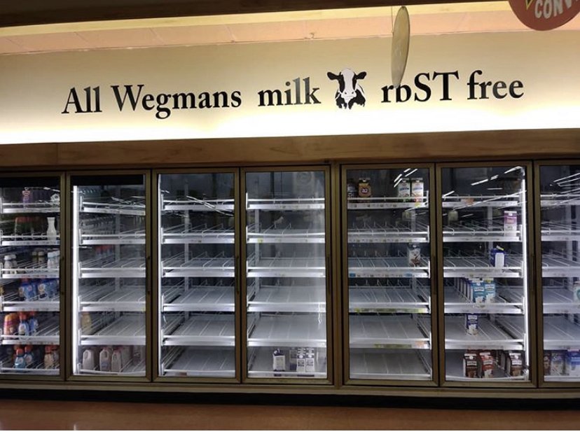 The+empty+milk+case+at+Wegman%E2%80%99s+on+Peach+Street+after+the+March+13+announcement+that+schools+would+be+closed+for+two+weeks.