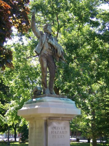 Statue of  Oliver Hazard Perry within Perry square.