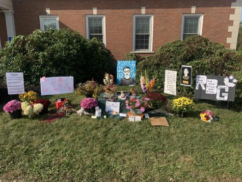 RBG Memorial outside of Edinboro Municipal building (credit: Chloe Miles)