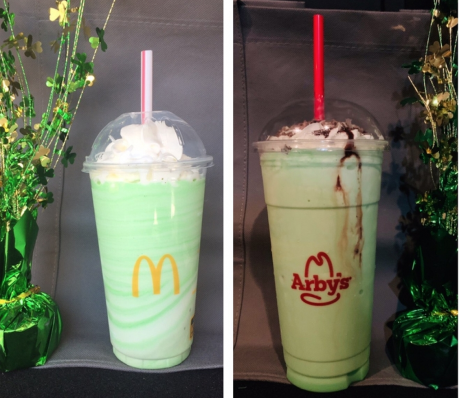 McDonalds vs. Arby's Saint Patrick's Day Shake?