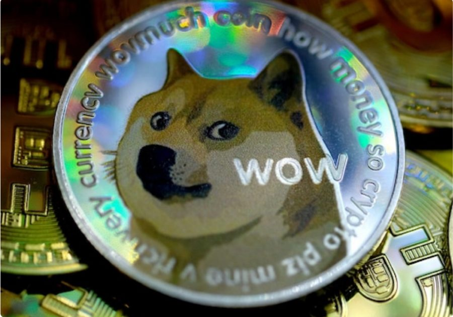 A dogecoin is much like a standard coin, but has an image of a Shiba Inu dog in the center rather than a president.
